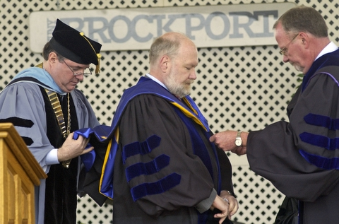 Picture of Spaf getting hooded